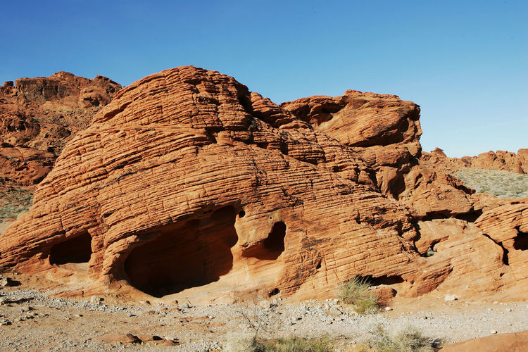 Rock formations against sky at valley of fire state park