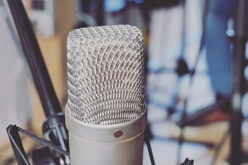 Music Love Musician Music Making Studio Recording Music Recording Arts Culture And Entertainment Close-up Day Focus On Foreground Indoors  Microphone Microphone Stand Music No People Recording Studio Sound Recording Equipment