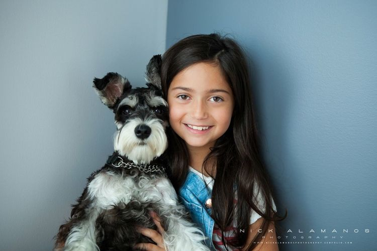 Kids best friend. Looking At Camera Portrait Smiling Young Women Lifestyles Happiness Indoors  Lavalphotographer Canon 5D Mark II Canadian Photographer Pet Portraits