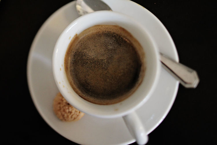 Fresh espresso Caffeine Coffee Coffee Time Coffee ☕ Espresso Morning Beverage Black Background Cappuccino Close-up Coffe Coffee - Drink Coffee Bean Coffee Break Coffee Cup Crème Cup Directly Above Drink Food And Drink Frothy Drink High Angle View No People Saucer Still Life