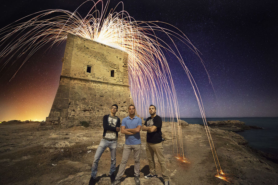 THESE Are My Friends Friends Night Photography Steelwool Stars Palermo Sea Long Exposure Fireworks Sicily Italy Night Photography