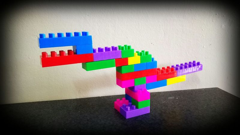 Dinosaurs Raptor Bricks LEGO Colorful 3 Years Old Boy Created