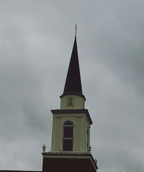 Built Structure Architecture Sky Religion Outdoors No People Day Church Tower Steeple Cloudscape Cloudy Weather