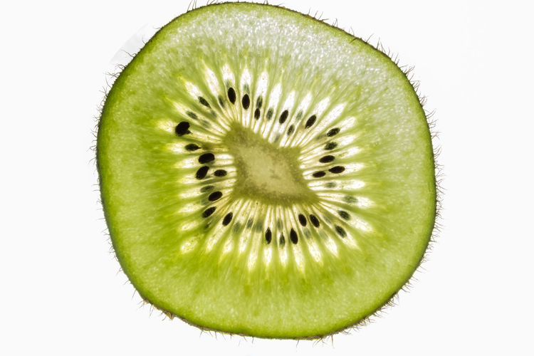 Kiwifruit Close-up Cross Section Cut Out Food Food And Drink Freshness Fruit Green Color Halved Healthy Eating Healthy Lifestyle Indoors  Kiwi Kiwi - Fruit No People Seed Serving Size SLICE Studio Shot White Background