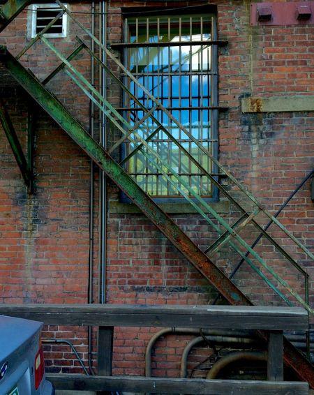 Vermont patina Brattleboro EyeEmNewHere Urban Decay Alley Patina Bricks Fire Escape Stairs Window Reflection Brick