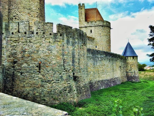 Walled medieval city Ancient Civilization Artisans Battlements Castle Castle Moat Chapel Château Crusaders Donjon Drawbridge  Famous Place Fortification Wall Historic In The Medieval City Inquisition MedievalTown Parade Ground Stone Wall Tourism Tower