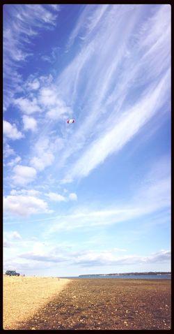 Vertical Panorama Cloud Porn Beach Life Flying A Kite