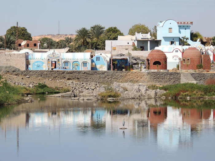 Aswan, Egypt Nile River Nubian House River River View Water Reflections