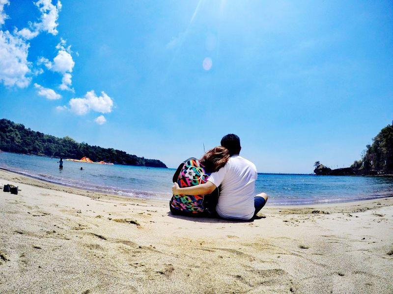 Everlasting EyeEmNewHere Eyeem Philippines Forever Everlasting Couple Bataan An Eye For Travel Beach Togetherness Sand Sitting Love Bonding Adult Couple - Relationship Vacations Sea Sky Full Length Outdoors Nature Water