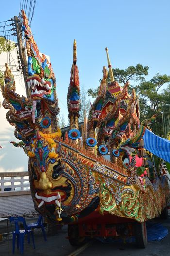 Car Asian  Day Colroful Ourdoor Line Thai Thailand Dragon Ornate Cultures Multi Colored Chinese Dragon No People Chinese New Year