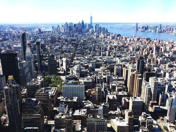 Empire State Building View Hello World
