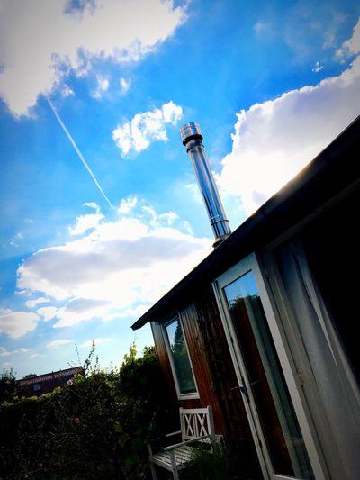Summer House Summer Summerhouse Noordwijk Clouds Chimney Sky