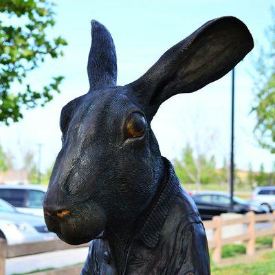 Bunny  Rabbit Statue Sculpture Library Park
