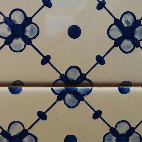 Tiles Portuguesetiles Azuleijo Blue Flowers