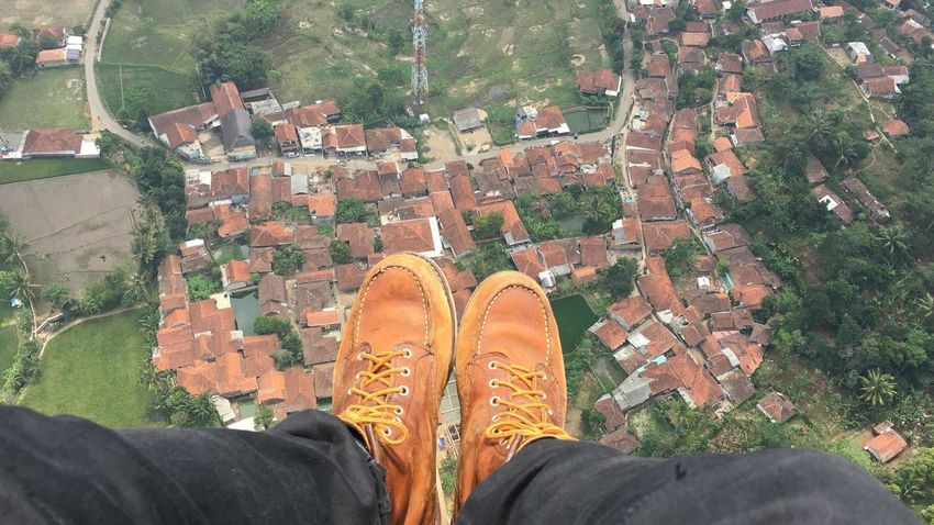 Personal Perspective Low Section Shoe Human Leg Human Body Part One Person Standing High Angle View Human Foot Real People Lifestyles Men Day Outdoors One Man Only Nature People Adult RedWingShoes Boots Adults Only Parachute EyeEmNewHere The Week On EyeEm Connected By Travel