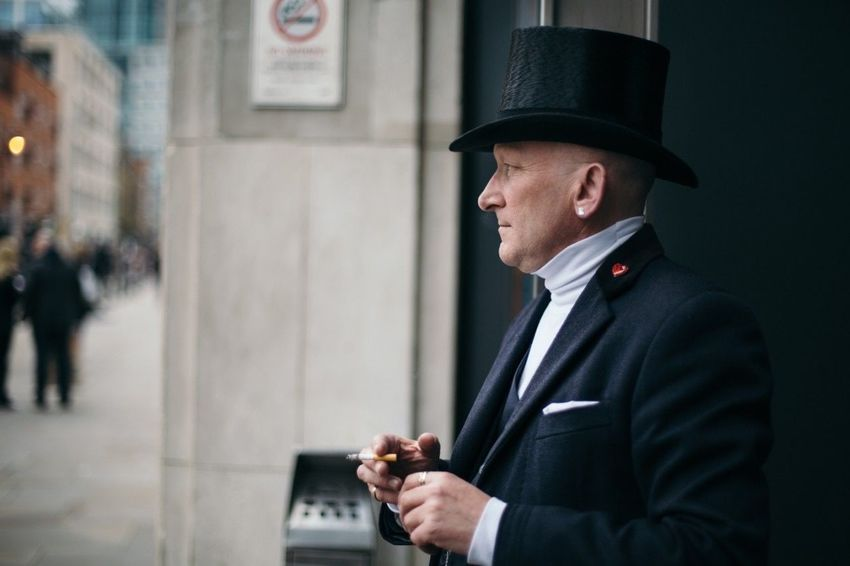 EyeEm LOST IN London Englishman British Britain London England, UK England🇬🇧 Man Gentlemen Gentleman  Human Face Faces Of EyeEm Face Portrait Portrait Photography Portrait Of A Man  Man In Black Man In Hat Hat Top Hat Postcode Postcards Be. Ready. This Is Masculinity This Is Aging