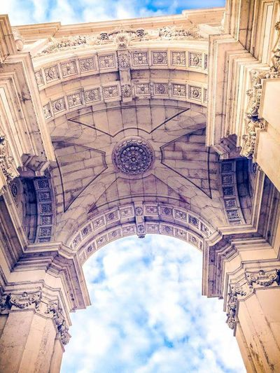 Travel Destinations Architecture History Travel Sky Outdoors Building Exterior Triumphal Arch City No People Arch Day Place Of Worship Lisbon - Portugal Miles Away