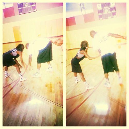 Me An My Love Playing Basketball !! I