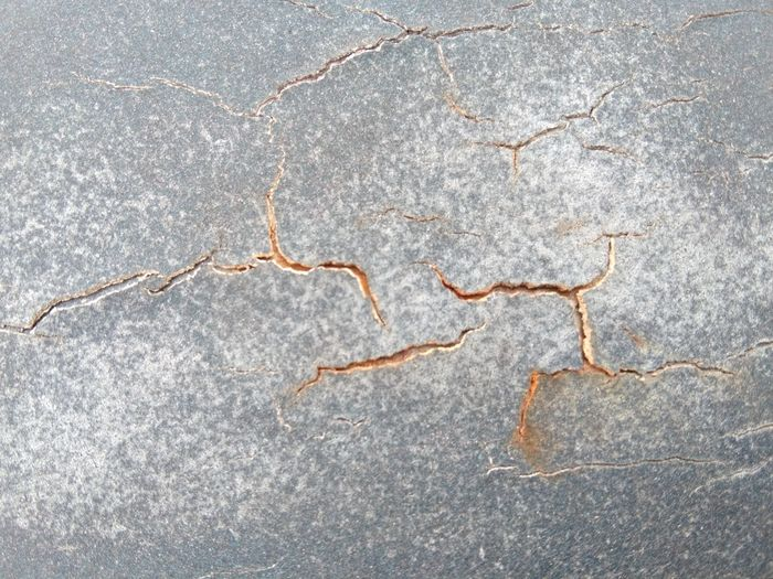 Close-up of cracked pattern on floor