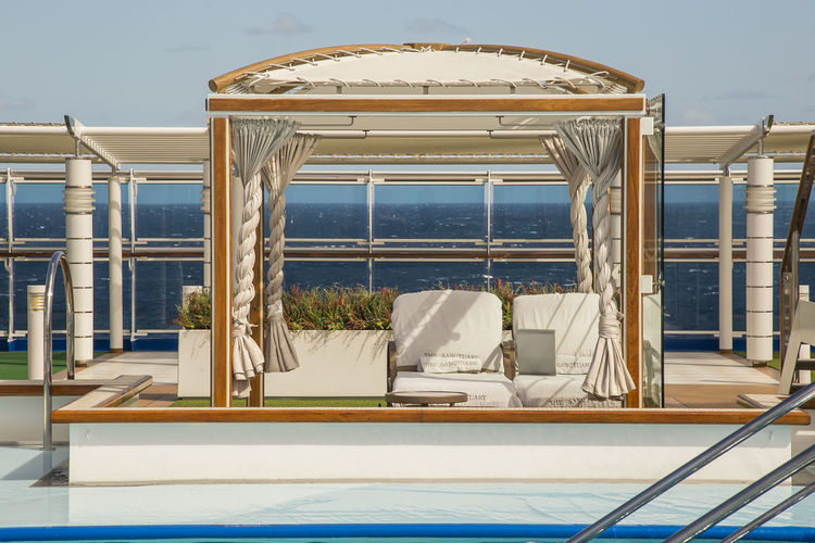 Balcony Day Gazebo Lounge Lounge Chair Luxury No People Ocean Outdoors Ribo Scenics Sea Sky Summer Sunlight Swimming Pool Vacations Water Wealth Postcode Postcards