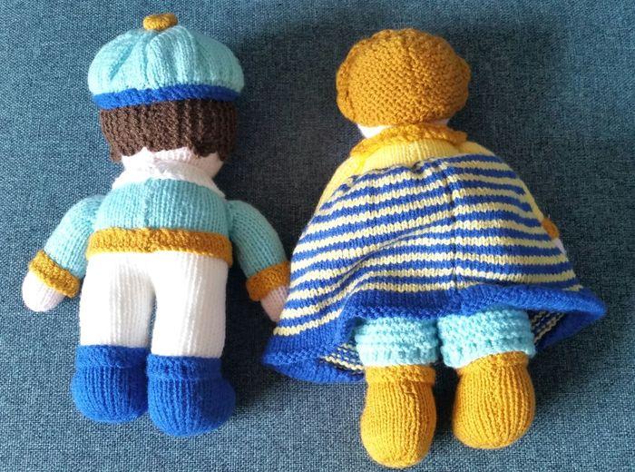 Girl Boy Stuffed Toy Hobby Craft Dolls Knitted  Pretendplay 43 Golden Moments