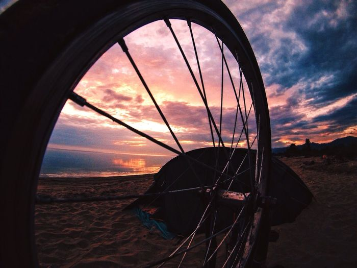 Sun Sunrise Bike Bysicle Camp Overnight Gopro Rays Of Light Morning No People Tourism Beautiful Water Baikal Water Reflections Lake Traveling Lifestyles Trip Majestic Idyllic Relaxing Nature Landscape Aerial View