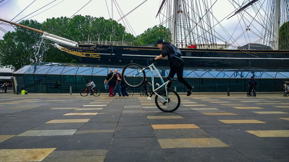 Bike Ride Spectacular LONDON❤ Greenwich Cutty Sark Ship Museum Teen Young Wild And Free(;
