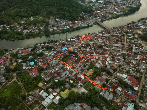 Colorful Roof at Gorontalo High Angle View Cityscape INDONESIA DJI Mavic Pro Mavic Pro Aerial View Drone Photography Bridge Mobility In Mega Cities