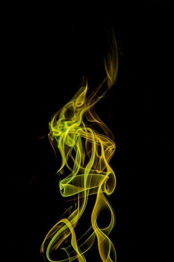 EyeEm Gallery Smoke Neon EyeEm Yellow Smoke Smoke Time Smoker Smoked Smoke Tricks Colored Smoke Isolated Smoke Black Background Textured  Textures Isolated Shapes