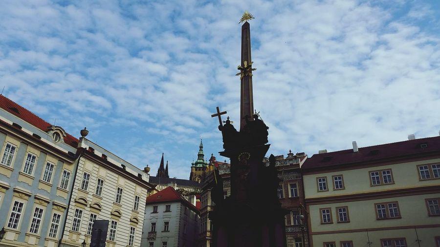 Streetphotography Prague Sculptures Oldtown Clouds And Sky Oldtown Oldcity Castle Relaxing Old Buildings Oldtown