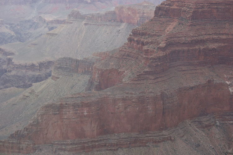 Rock formations on land