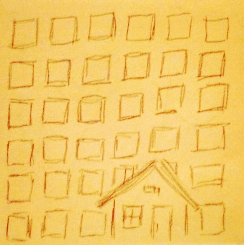 Drawing Cityscape Houses Pencil Drawing Yo! :D