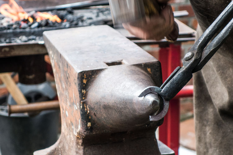 Anvil Close-up Day Detail Equipment Focus On Foreground Forge  Hammer Hammer Out Iron Luxmom Luxmom Street Metal Metallic Outdoors Part Of Pliers Selective Focus Smith Streetphotography Work Tool