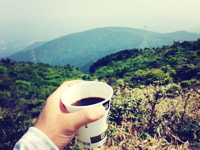 山頂で飲む珈琲は格別!! On A Hike