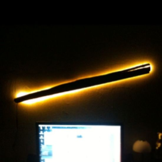 DIY Treibholz-Lampe. :)