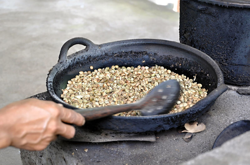 Close-up Coffee Roasting Day Food Food And Drink Freshness Healthy Eating Human Hand Outdoors Coffeebeans Movement In The Picture