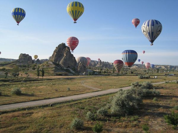 Adventure Ballooning Festival Day Flying Hot Air Balloon Multi Colored No People Outdoors Rock - Object Rock Formation Rock Hoodoo Travel Destinations Turkey Vacations Variation First Eyeem Photo