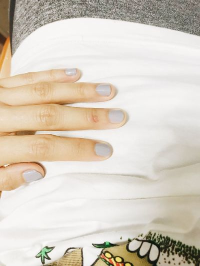 The new nail polish Indoors  White Color High Angle View No People Textile Close-up Lifestyles Nail Still Life Nail Polish EyeEmNewHere