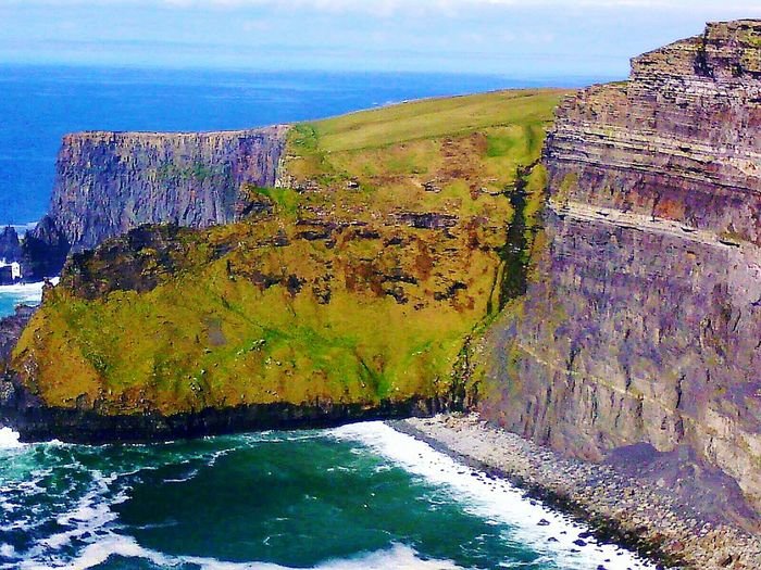 Cliffs Of Moher  Edge Of The World Danger Zone Dangerous People Of The Oceans Great Atmosphere Nature Photography Nature_collection View From The Top View From Above EyeEm Best Edits EyeEm Gallery Nature Oeacenside Seascape Sea And Sky Ireland🍀 Green Nature Original Experiences Naturelovers My Travel  Feel The Journey Landscape A Bird's Eye View