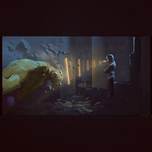 New illustration im working on.. Illustration Hulk Blackbolt Inhumans