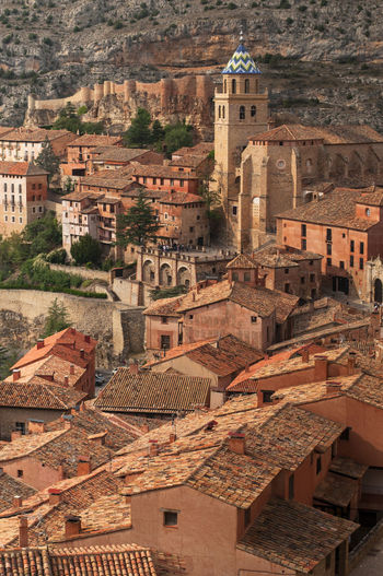 Albarracin, Teruel. An arab founded village in Spain ©alexander h. schulz Albarracín Cathedral Pink Red SPAIN Teruel Arab Architecture Building Exterior Built Structure Cloister Day High Angle View Historic History Mountains No People Outdoors Stone Tiles Travel Destinations Village