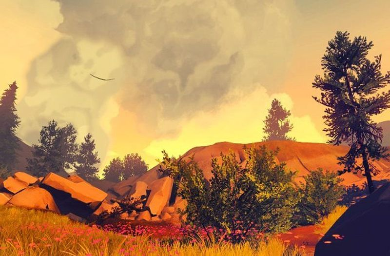 Firewatch Game Screenshot Gaming Videogames Games Game Nerd Picoftheday Videogame  Landscape Photography Lovely Lovelyday Xbox Xbox360 Instagram Travel Traveldiaries Instapic Instagamer IGN Kotaku Pcgamer Geek amazing captures pcgaming herewego lifeisgood