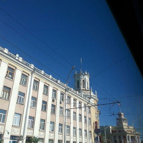 20140613 , Кемерово . Кемеровский главпочтамт . Вид из окна автобуса:-)/ Kemerovo . Kemerovo Main Post Office. The view from the bus window:-)