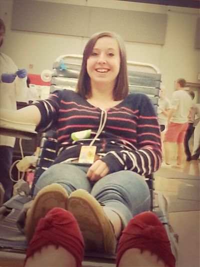 Gave Blood with Zoey (: