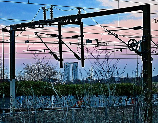 Ac Hote BellaSky Cable Connection Copenhagen Day Denmark Electricity  Electricity Pylon Outdoors Power Line  Power Supply Railway Sky Tranquility