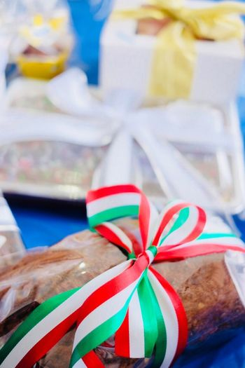 Holiday shopping Baked Goods Baked Pastry Item Ribbon Ribbon - Sewing Item Bow Tied Bow Celebration Gift Christmas Holiday Focus On Foreground Wrapping Paper