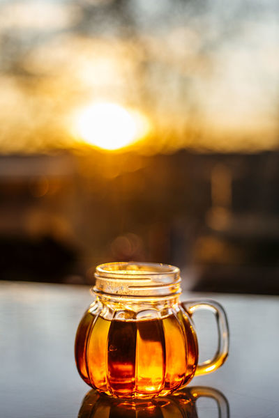 Tea and sunlight Home Homemade Hot Liquid Natura Tea Winter Background Bevarage Brekfast  Close Up Cup Drink Drinking Food Healthy Herbal Leaf Vein Mug Organic Pumpkin Mug Sunset Tea Cup Tea Time Warm