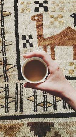 Breakfast Carpet Close-up Coffee Coffee Coffee - Drink Coffee Cup Cropped Cup Day Hand Home Human Finger Interior Leisure Activity Lifestyles Modern Morning My Favourite Breakfast Moment Oriental Part Of Personal Perspective Refreshment Unrecognizable Person Urban