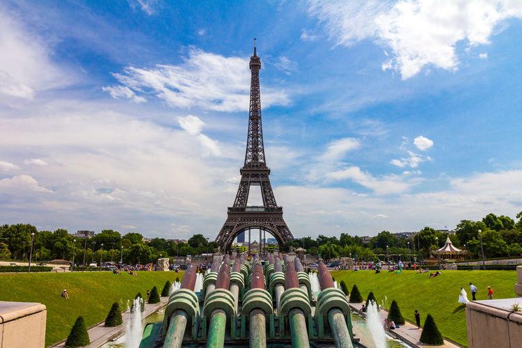 The Eiffel Tower in Paris France Paris Paris ❤ Eiffel Tower Architecture Sky Built Structure Cloud - Sky Travel Destinations History The Past Travel Tower Nature Tourism Building Exterior Day City Tall - High Metal Building Plant Outdoors Spire  Skyscraper