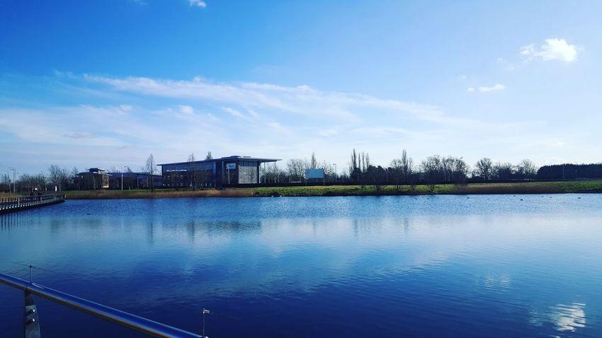 Cambridge England Summertime Lake Blue Sky Taking Photos Beauty In Nature Enjoying Life